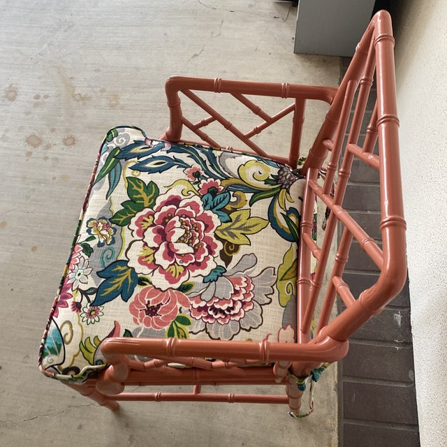 Wood Vintage Chinoisere Chair For Sale - Image 7 of 8
