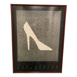 1980s the Marcos Collection Shoe Poster For Sale