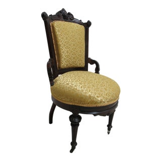 Antique Victorian East Lake Carved Side Chair For Sale