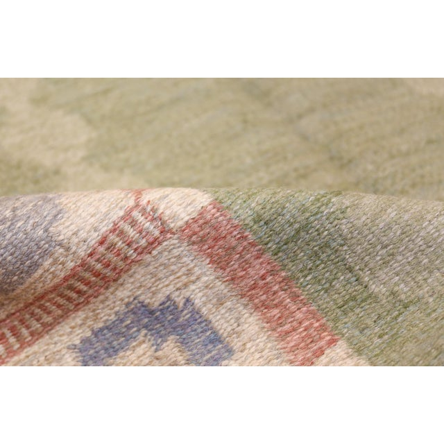 Textile Vintage Swedish Kilim Rug by Anna Johanna Angstrom - 4′8″ × 6′8″ For Sale - Image 7 of 9