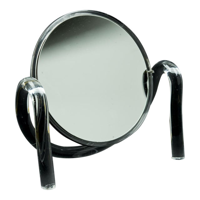 Mid Century Modern Dorothy Thorpe Lucite Tabletop Make-Up Mirror - Image 1 of 6