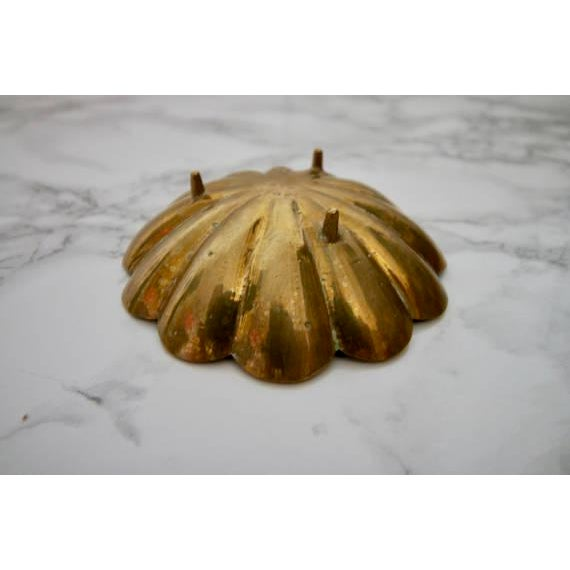 Vintage Brass Scalloped Coin Dish Bowl - Image 4 of 4