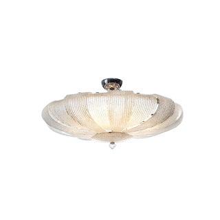 Vintage Murano Glass Flush Mount Ceiling Lamp