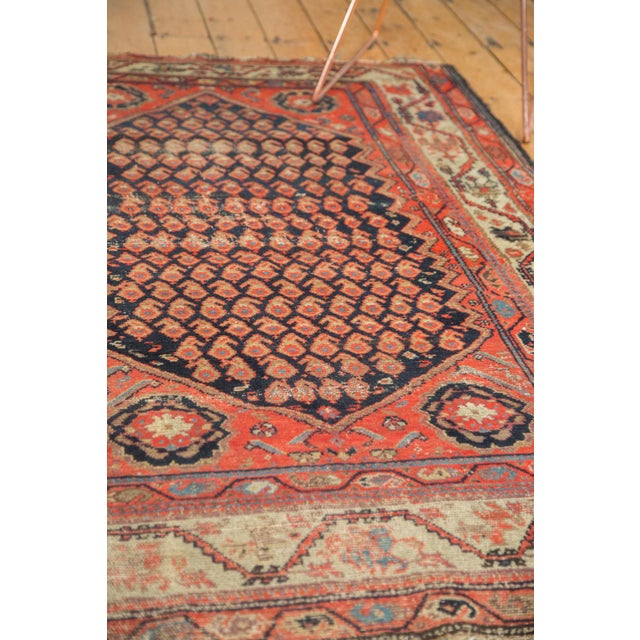 "Antique Hamadan Rug - 4' x 6'3"" For Sale - Image 9 of 11"