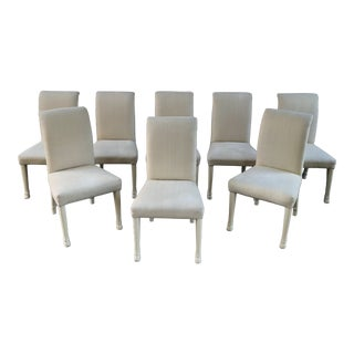 Weiman Zebra Leg Parsons Dining Chair Set of 8 For Sale