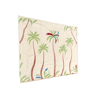 Handmade Palm Tree Wool Rug