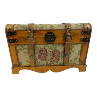 Folk Art Floral Chest For Sale