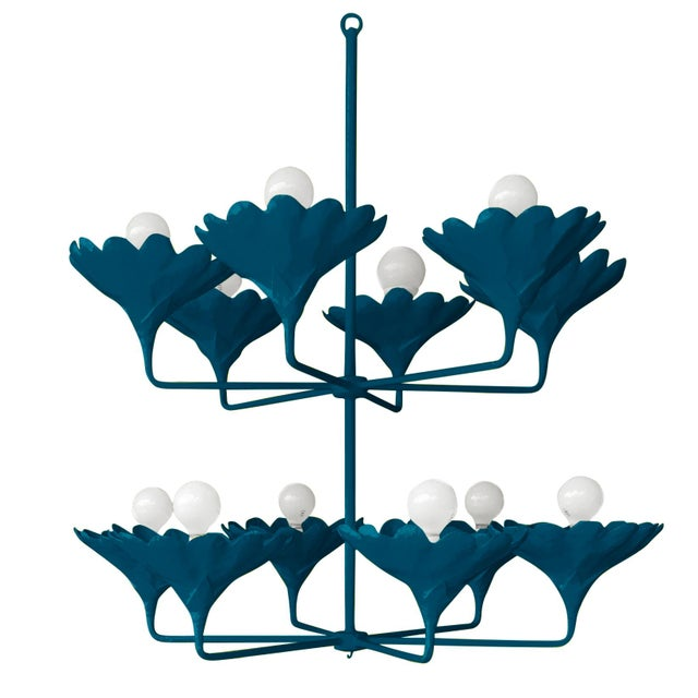 Contemporary Stray Dog Designs for Chairish Arlo Chandelier, Deep Blue For Sale - Image 3 of 3
