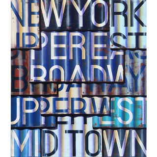 """Original Photorealistic Oil and Enamel on Canvas Artwork by Ross Tamlin """"Broadway"""" For Sale"""