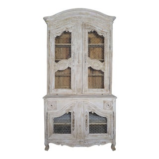 18th Century Louis XV Style Painted Buffet De Corps For Sale