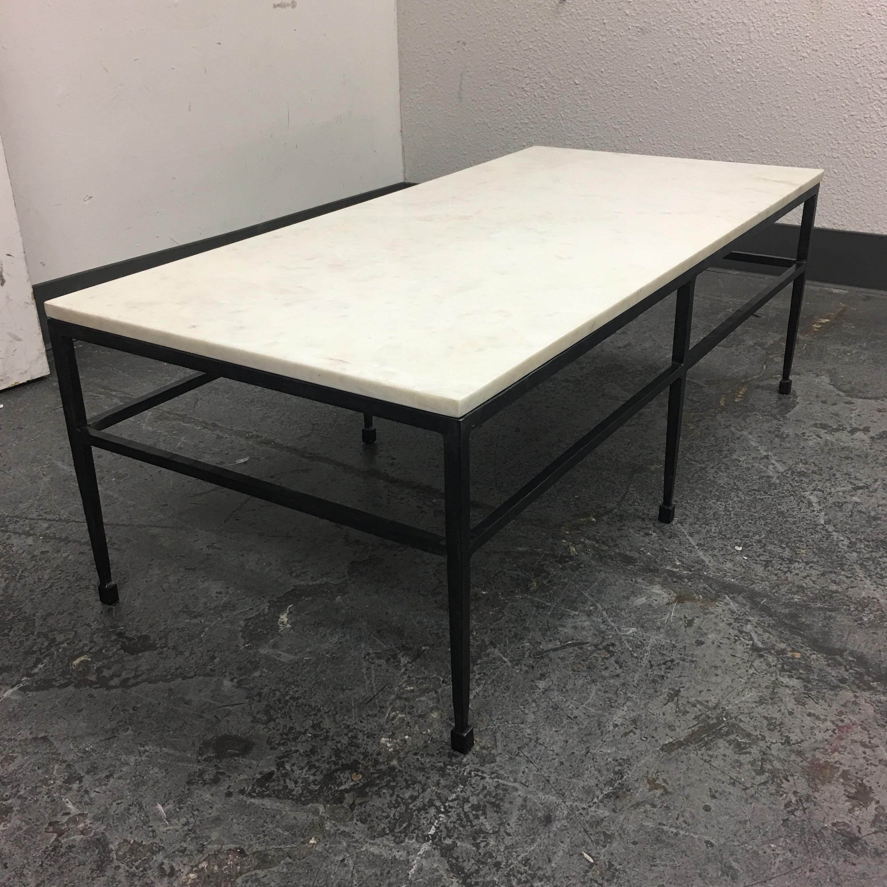 Crate U0026 Barrel Bastille Marble Top Coffee Table   Image 4 ...