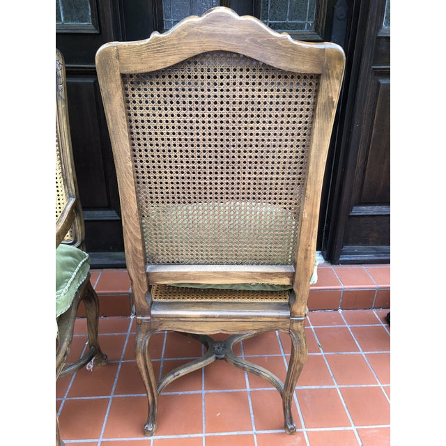 Wood French Caned Chairs - a Pair For Sale - Image 7 of 12