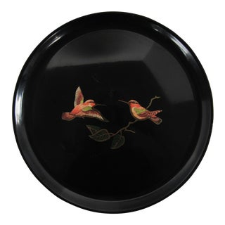 Couroc of Monterey Hummingbird Tray For Sale