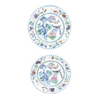 Davenport Stone China Plates - A Pair