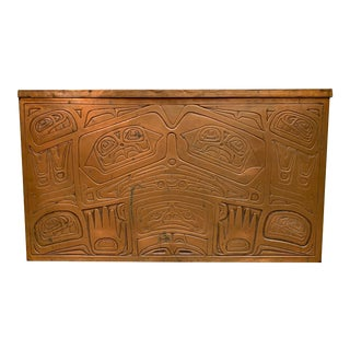 "1970s Copper Whale Chest by Northwest Coast ""Haida"" Tribe For Sale"