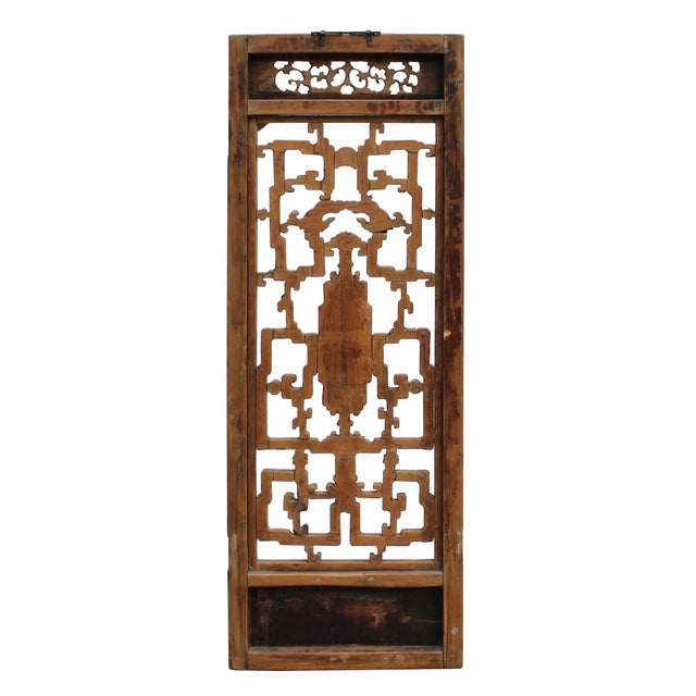 1950s Chinese Vintage Light Brown Relief Motif Wood Wall Hanging Art For Sale - Image 5 of 9
