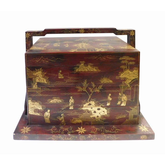 Handmade Brown & Gold Graphic Wedding Box - Image 4 of 6
