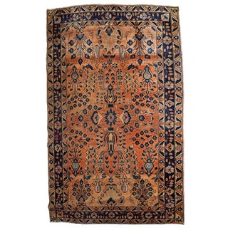 1920s, Handmade Antique Persian Sarouk Rug 4.1' X 6.4' For Sale