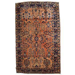 1920s, Handmade Antique Persian Sarouk Rug 4.1' X 6.4' For Sale