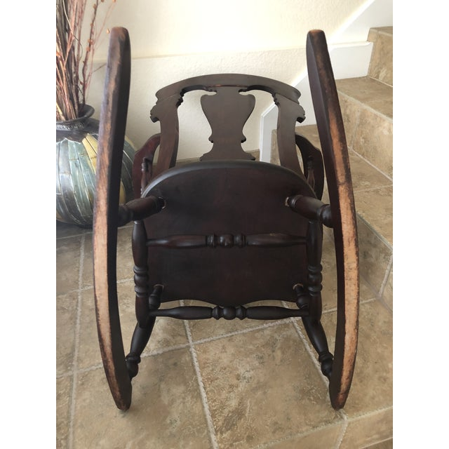 Jacobean Colonial Revival-Inspired Carved Rocking Chair For Sale - Image 10 of 13