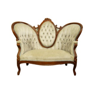 1920's Vintage Victorian Parlor Sofa For Sale