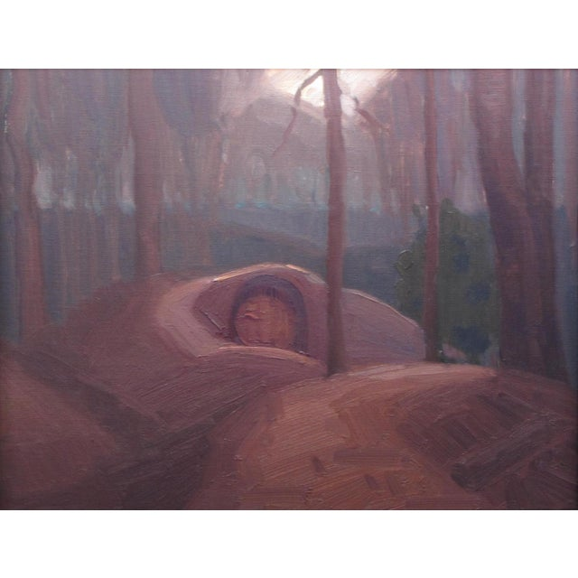 "Contemporary ""Forest Dwelling"" Oil Painting by Christopher Best For Sale - Image 3 of 3"
