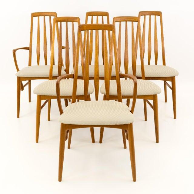 Niels Koefoed Hornslet Danish Teak Eva Mid Century Modern Dining Chairs - Set of 6 Each chair is 19 wide x 20 deep x 37.5...