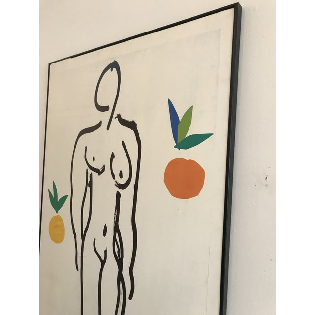 1980s 1985 Framed Matisse Louisiana Exhibition Poster For Sale - Image 5 of 10
