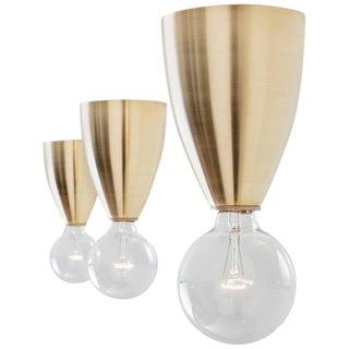 Valo, a Modern Handcrafted Brass Flush Mount Light For Sale