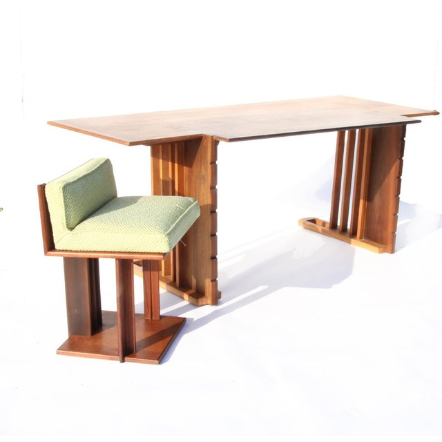 1940s Rare 1945 Unison Desk and Chair by Frank Lloyd Wright For Sale - Image 5 of 5
