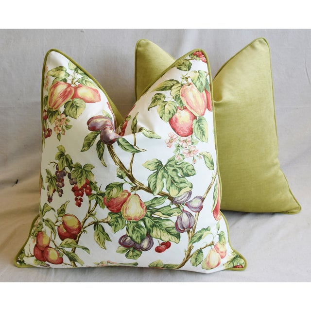 "P. Kaufmann Bountiful Fruit Feather/Down Pillows 24"" Square - Pair For Sale - Image 11 of 13"