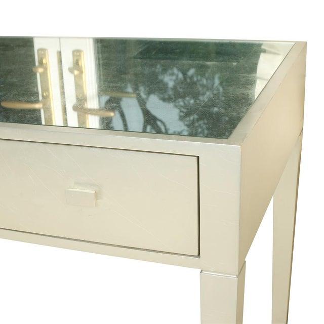 Art Deco Vintage Art Deco Silver Leaf Writing Desk For Sale - Image 3 of 4