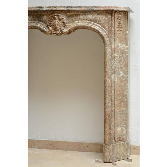 Beautiful Petite Marble Régence Style Fireplace Mantel For Sale - Image 4 of 10