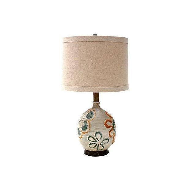 1960s Studio Art Ceramic Lamp - Image 4 of 6