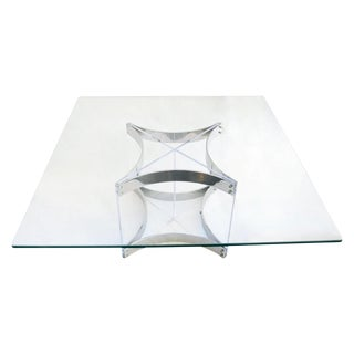 Modernist Lucite & Chrome Coffee Table by Alessandro Albrizzi For Sale