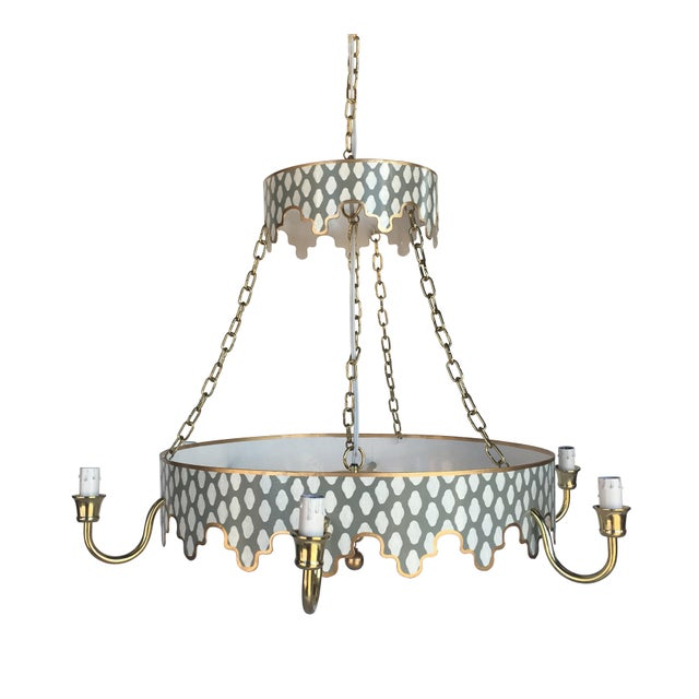 Dana Gibson Gray Parsi Chandelier For Sale
