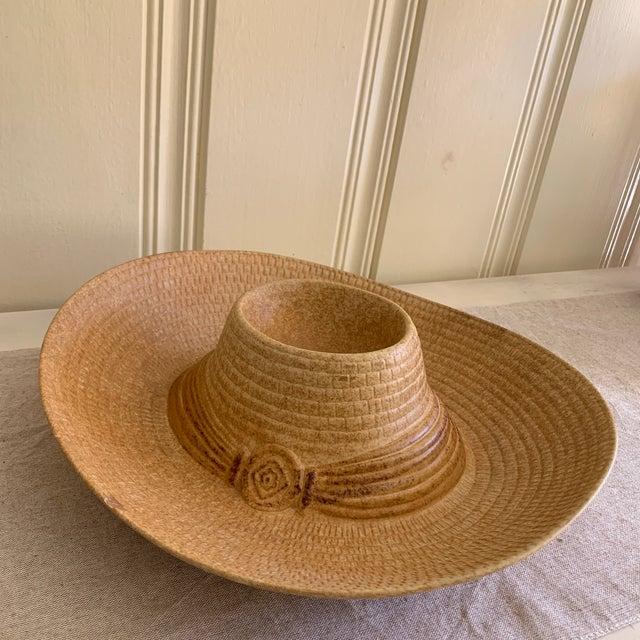 Vintage Stoneware Ceramic Sombrero Hat Dip Chip Platter Chairish
