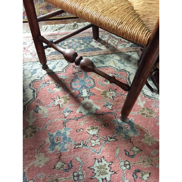 Traditional English Ladderback Chair For Sale - Image 3 of 4