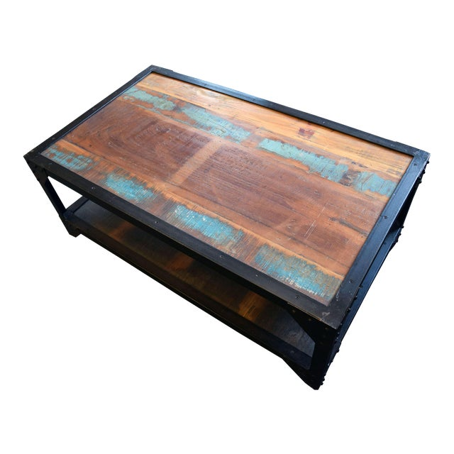 Industrial Patchwork Coffee Table - Image 1 of 3