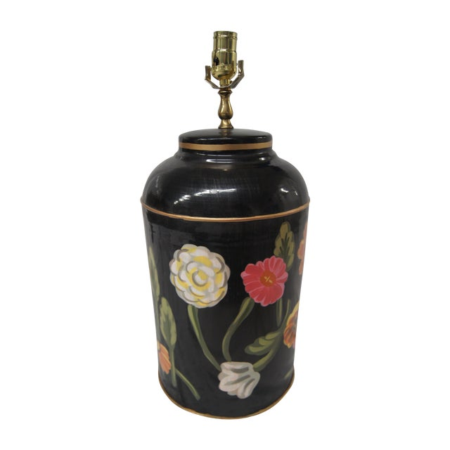 Dana Gibson Floral Tea Caddy Lamp - Image 1 of 4