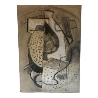 Vintage Mid-Century Modern Tatiana McKinney Abstract Drawing For Sale