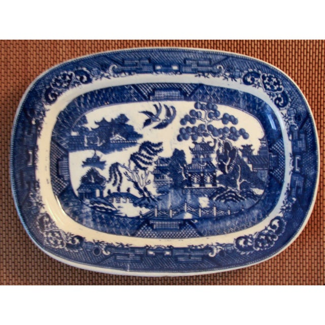 Antique Blue Willow Platter - Image 2 of 4