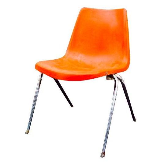 Orange Astro Furnishings Shell Chair - Image 1 of 5