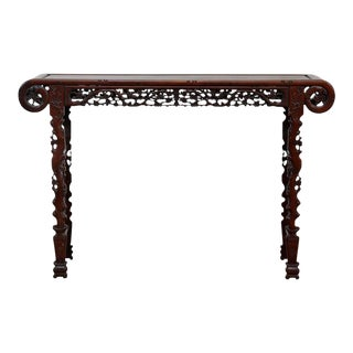 Chinese Rosewood Carved Altar Console Table