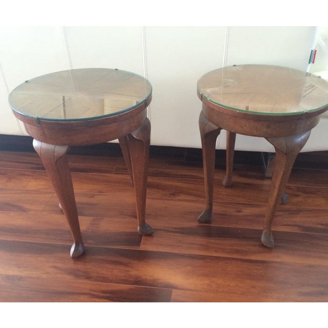 Vintage Inlaid Teak Accent Tables - A Pair - Image 3 of 7