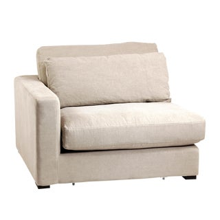 Raw Linen Right Arm Sectional Sofa Piece
