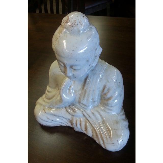 Sitting Buddha Statue With Ivory Finish - Image 6 of 7