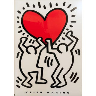 Men Holding Heart by Keith Haring