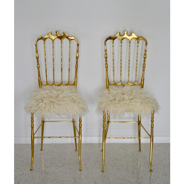 1950s Mid-Century Brass Side Chairs - a Pair For Sale - Image 5 of 13