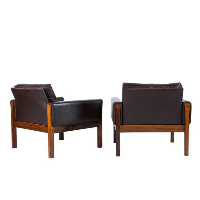 1960s Pair of Hans Wegner AP 62 Lounge Chairs For Sale - Image 5 of 10